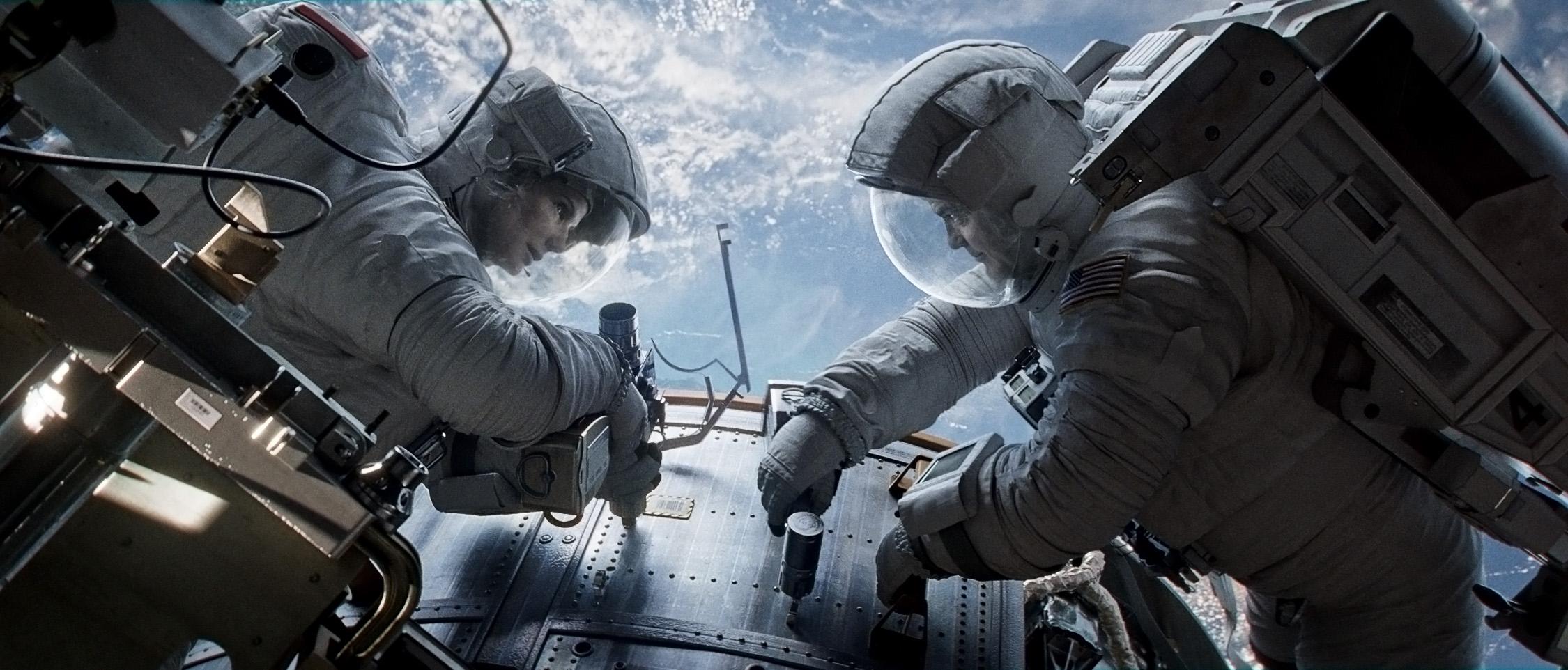 Grawitacja - zdjęcie z filmu science fiction