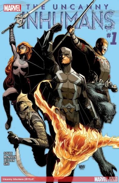 """The Uncanny Inhumans"" - okładka komiksu"
