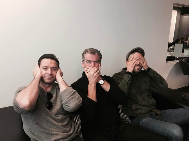 Ryan Reynolds, Pierce Brosnan i Hugh Jackman