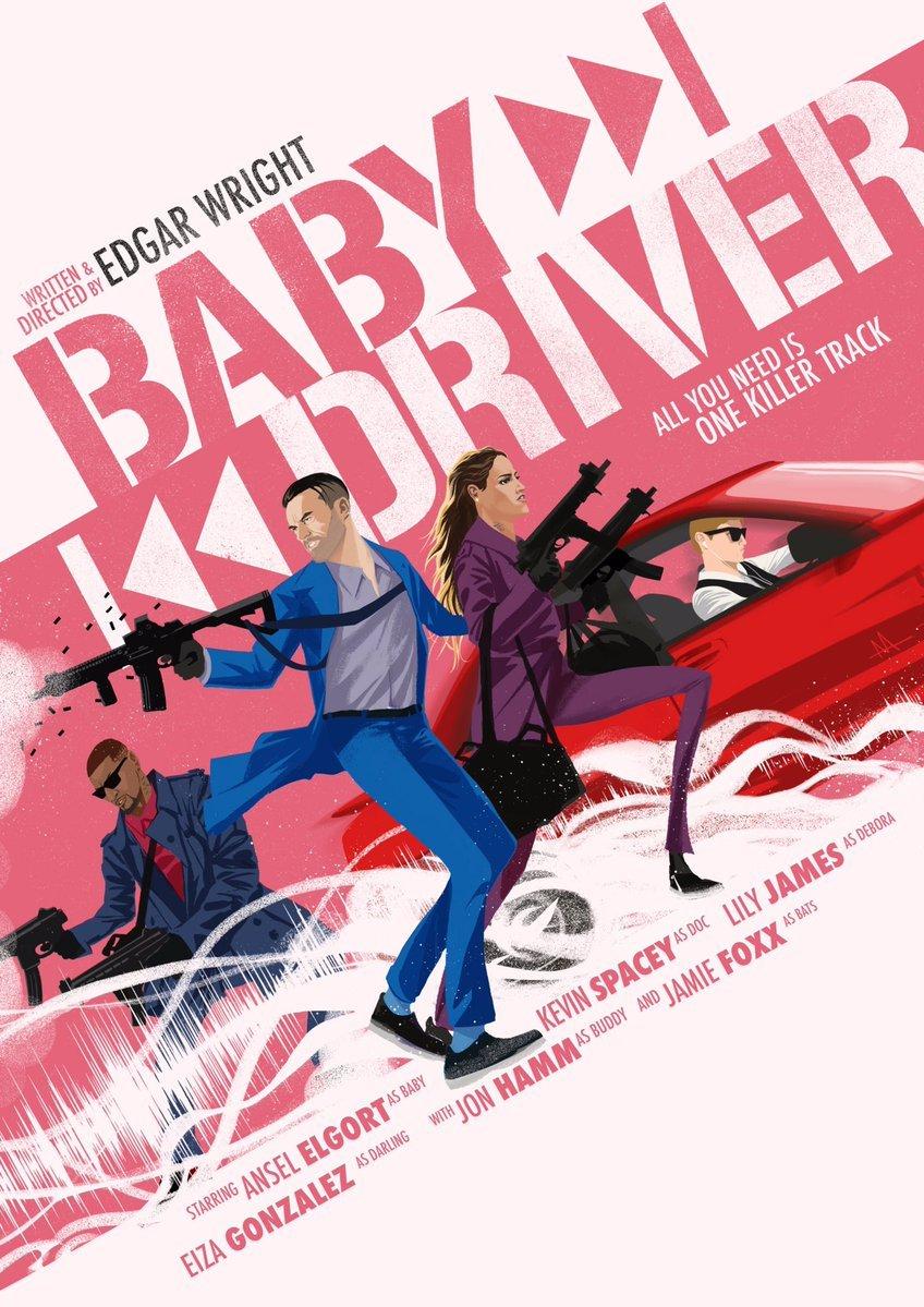 Baby Driver - plakat art